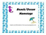 Beach and Ocean Themed Desk/Name Tags