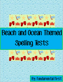 Beach and Ocean Themed Spelling Tests
