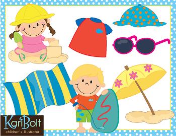 Beach and Sun Safety Clip-Art