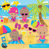 Beach baby clipart commercial use, graphics, digital clip art - CL891