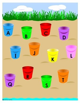 Beach or Ocean Theme/Unit Counting and Alphabet File Folder Games