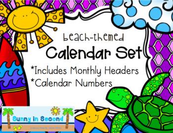 Beach or Ocean Themed Calendar Set