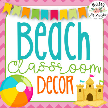 Beach or Ocean Themed Decor Pack