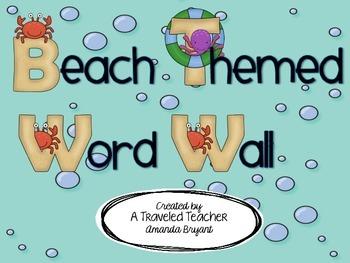 Beach or Ocean Themed Word Wall