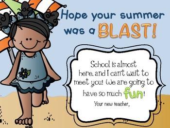 Back to School Activities - Back to School Postcards