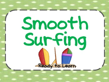 Beach or Surfing Theme Behavior Clip Chart