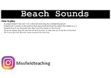 Beach sound board game