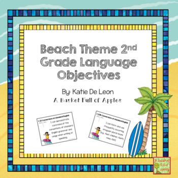 Beach theme 2nd grade language objectives