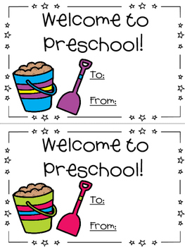 Beach theme - First day of school card - Back to School