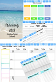 Beach theme template for daily planner