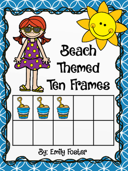 DOLLAR DEAL!!  Beach theme ten frame posters