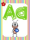 Beach-themed Alphabet Cards