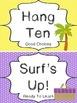 Beach themed Behavior Clip Chart-8 Cards