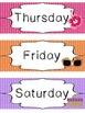 Beach themed Printable Days of the Week Classroom Bulletin