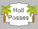 Beach themed Printable Hall Pass Sign and Hall Passes. Cla