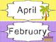 Beach themed Printable Month Classroom Bulletin Board Set.
