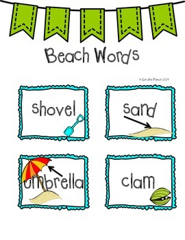 Back To School with Beach to School!  Beach Themed Activities for K-1 UPDATED!