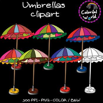 Summer - Beach umbrellas clipart