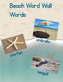 Beach word wall words