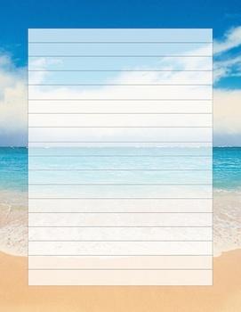 Beach writing template