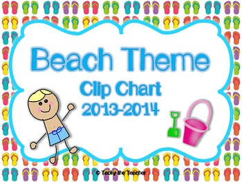 Beach/Ocean Behavior Clip Chart & Calendar 2014-2015