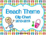 Beach/Ocean Behavior Clip Chart & Calendar 2014-2015