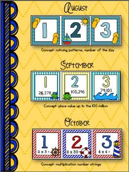 Beach/Ocean Themed Calendar Days - for the {WHOLE} year!