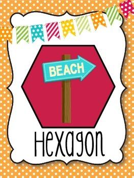 Beach/Ocean Themed Shape Posters