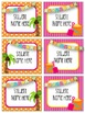 Beach/Ocean Themed Welcome Banner & Student Name Cards (Editable)