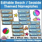 Beach/Seaside Themed Nameplate/Deskplate/Nametags