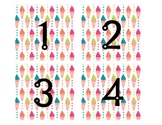 Beach/Summer Themed Calendar Numbers 1-31