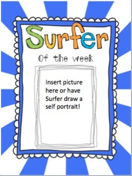 "Beach Theme ""Star"" (Surfer) of the Week!"
