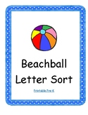 Beachball Letter Sort