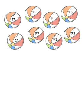 Beachballs Numbered