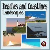 Beaches and Coastlines Landscape Background Scenes Clip Art