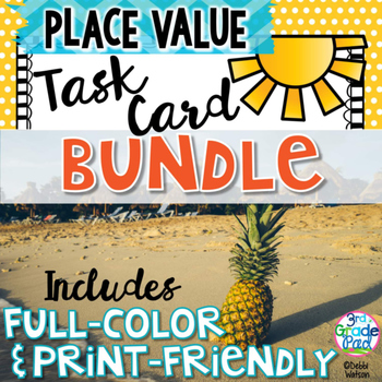 Place Value Task Card Bundle