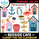 Beachside Cafe Clipart, Instant Download Vector Art, Commercial Use Clip Art