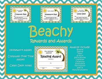 Beachy Awards and Rewards Certificates