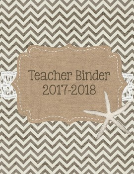 Beachy Chevron Teacher Binder 2017-2018