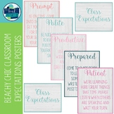 Beachy Chic Classroom Expectations