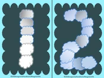 Beachy Cloud Number Posters 1-10
