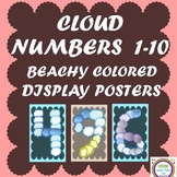 Beachy Cloud Number Posters 1-10