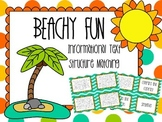 Beachy FUN! Informational Text Structure Matching Task Cards