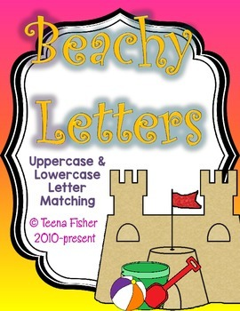 Beachy Letters - Uppercase and Lowercase Alphabet Matching FREEBIE