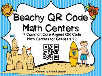 Beachy Math Centers with QR Codes {Grades 1 & 2}
