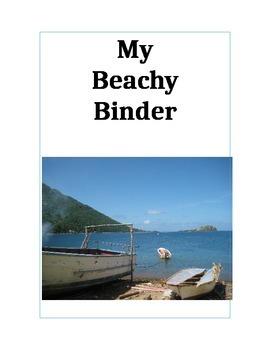 Beachy Organizational Binder Cover/Insert