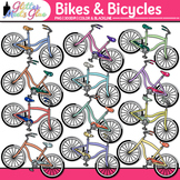 Bicycle and Bike Clip Art: Spring & Summer Graphics {Glitter Meets Glue}