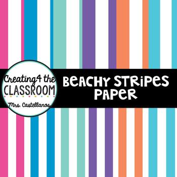 Beachy Stripes Paper
