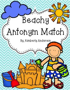 Beachy - Summertime Antonyms Match