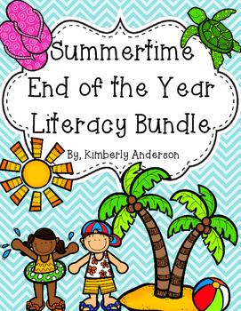 Beachy - Summertime - End of the Year: Literacy Center Bun